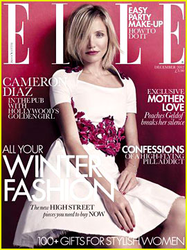 Cameron Diaz Covers 'Elle UK' December 2012