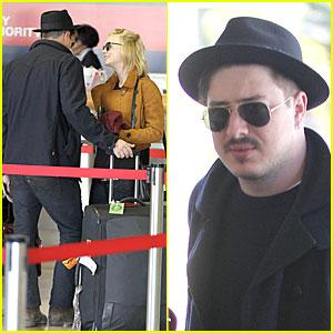 Carey Mulligan & Marcus Mumford: LAX Departing Couple!