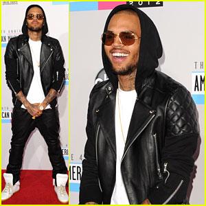 Chris Brown - AMAs 2012 Red Carpet