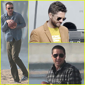 Chris Evans: Football on 'A Many Splintered Thing' Set!