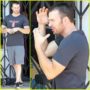 Chris Evans: 'Many Splintered Thing' Set Break!