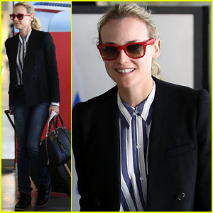 Diane Kruger Flies the Skies in L.A.!