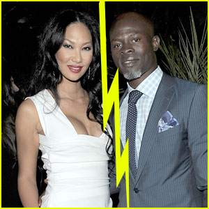 Djimon Hounsou & Kimora Lee Simmons Split