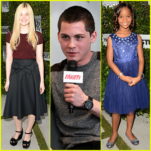 Elle Fanning & Logan Lerman: Variety Studio Awards Edition!