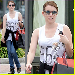 Emma Roberts: '666' T-Shirt Shopping Spree!