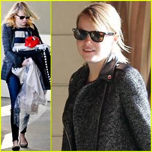 Emma Stone: House of Tailoring Pre-Thanksgiving Drop Off!
