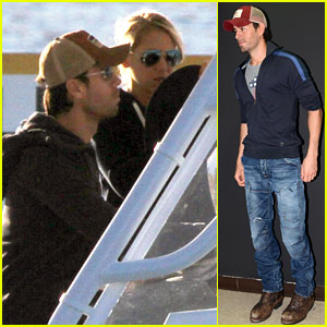 Enrique Iglesias &#038; Anna Kournikova: Miami Boating Mates!