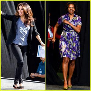 Eva Longoria & Michelle Obama Campaign for Barack Obama