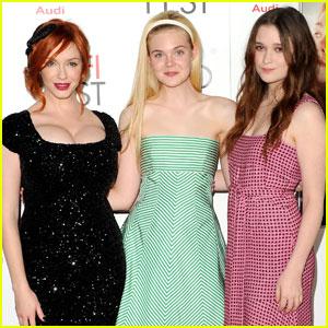Elle Fanning & Christina Hendricks: 'Ginger & Rosa' Screening!