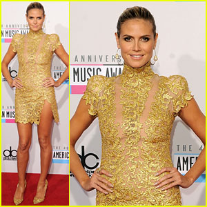 Heidi Klum - AMAs 2012 Red Carpet