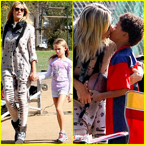 Heidi Klum: Good Luck Kisses For Henry!
