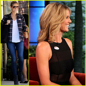 Heidi Klum Talks Voting with Ellen DeGeneres