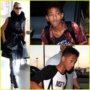 Jada Pinkett Smith: LAX Departure with Willow &#038; Jaden!