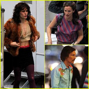 Jared Leto Cross Dresses on 'Dallas Buyers Club' Set!