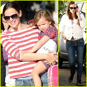 Jennifer Garner: Frozen Yogurt Treat with Violet & Seraphina!