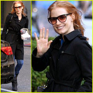Jessica Chastain: 'The Heiress' Afternoon Arrival!