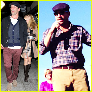 Jon Hamm Campaigns for Obama Before Election Day
