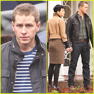 Josh Dallas Protects Ginnifer Goodwin on 'Once Upon a Time' Set!