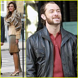 Jude Law: 'Dom Hemingway' Set with Madalina Ghenea!