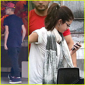 Justin Bieber & Selena Gomez Reunite at Four Seasons Hotel!