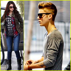 Justin Bieber & Selena Gomez: Separate Saturday Sightings!