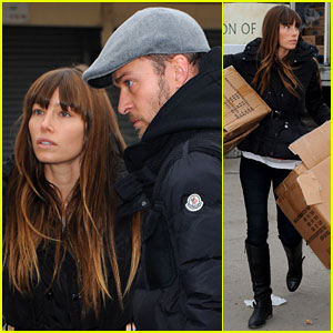 Justin Timberlake & Jessica Biel: Hurricane Sandy Relief Workers!
