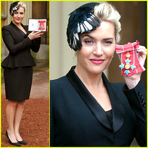 Kate Winslet Receives CBE Drama Award at Buckingham Palace!