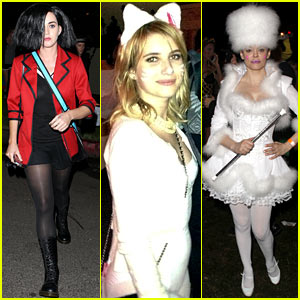 Katy Perry Emma Roberts Maroon 5 Halloween Party 2012 Halloween Adrian Grenier Aziz Ansari Chris Evans Emma Roberts Katy Perry Rose Mcgowan Just Jared
