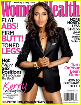 Kerry Washington Covers 'Women's Health' December 2012