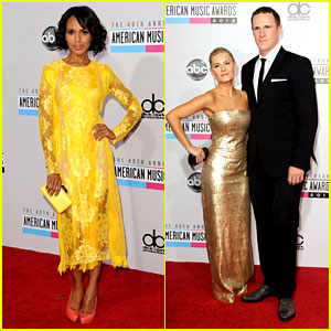 Kerry Washington & Elisha Cuthbert - AMAs 2012 Red Carpet