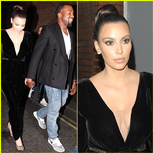 Kim Kardashian & Kanye West: Dinner Date with Sisters!