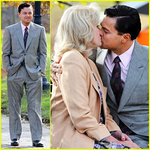 Leonardo DiCaprio Kisses Joanna Lumley on 'Wolf' Set