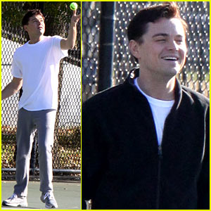 Leonardo DiCaprio: 'Wolf of Wall Street' Tennis Match!