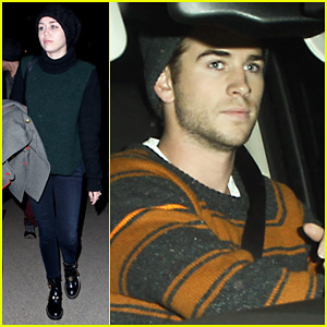 Liam Hemsworth Picks Miley Cyrus Up From LAX!