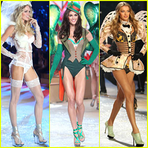 Lindsay Ellingson, Hilary Rhoda, & Bregje Heinen - Victoria's Secret Fashion Show 2012