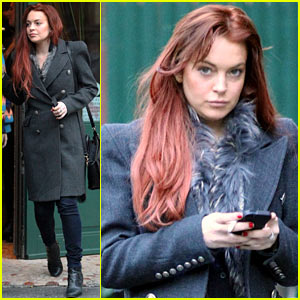 Lindsay Lohan: Sant Ambroeus Dinner with Friends!