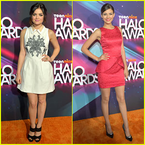 Lucy Hale & Victoria Justice - TeenNick Halo Awards 2012