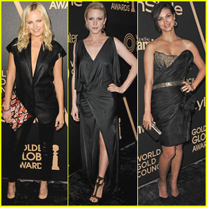 Malin Akerman & Brittany Snow: HFPA & InStyle Golden Globes Party!