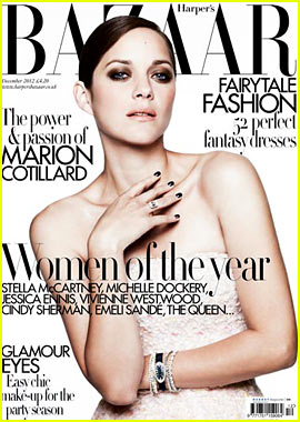 Marion Cotillard Covers 'Harper's Bazaar UK' December 2012