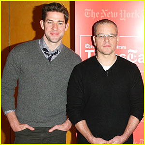 Matt Damon & John Krasinski: 'Promised Land' TimesTalks Event!