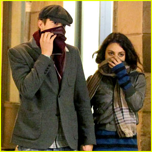 Mila Kunis &#038; Ashton Kutcher: Romantic Rome Dinner Date!