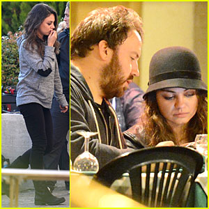 Mila Kunis: Teeth Cleaning on 'Third Person' Set!