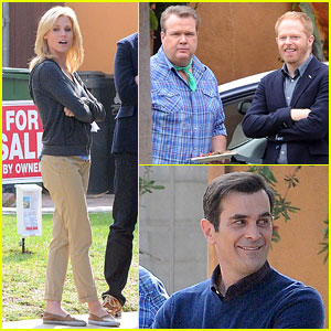Julie Bowen: 'Modern Family' Filming!