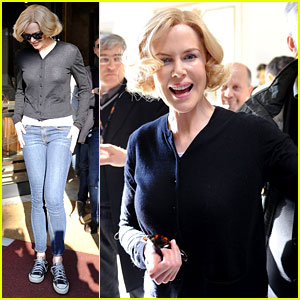 Nicole Kidman Greets Fans Before 'Grace of Monaco' Filming