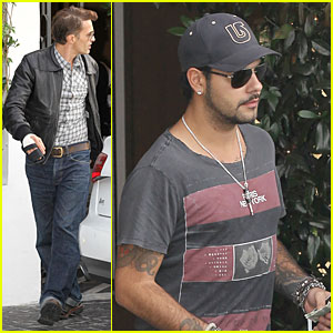 Olivier Martinez: Hand Brace for Lunch with Eduardo Cruz!