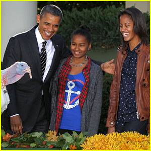 President Obama & Kids Pardon Thanksgiving Turkeys!