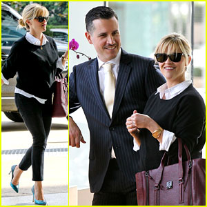 Reese Witherspoon Visits Hubby Jim Toth at the Office