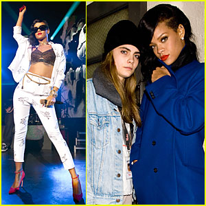 Rihanna's 777 Tour Hits London with Cara Delevingne (Exclusive)