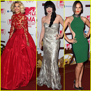 Rita Ora & Carly Rae Jepsen - MTV EMAs 2012 Red Carpet