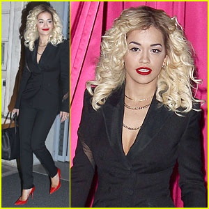 Rita Ora: 'Never Mind the Buzzcocks' Filming!